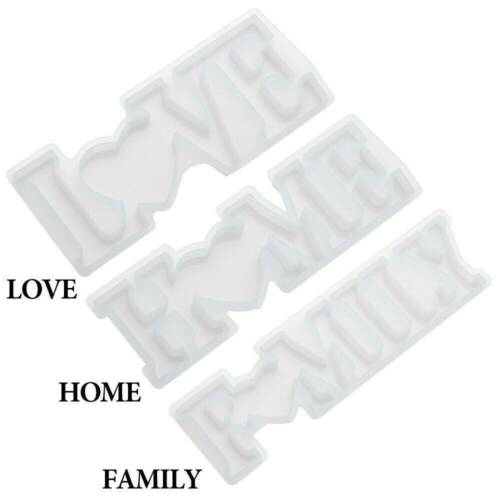 LOVE Sign Resin Casting Mold Silicone Jewelry Making Epoxy Mould Craft Art DIY