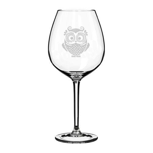Wine Glass Red White Wine Jumbo 20oz Owl Vintage