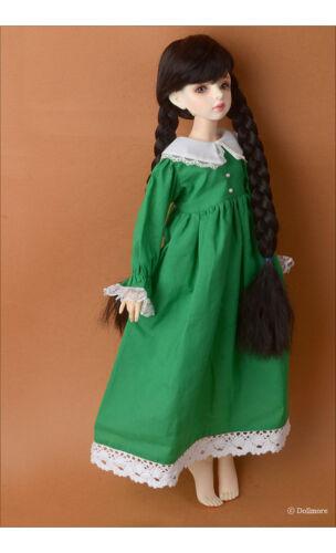 Green 1//4 BJD long dress MSD Dollmore Isabella Dress