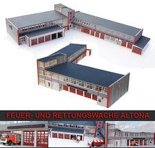 Feuer- und Rettungswache Altona / Berufsfeuerwehr Hamburg in 1:87 ( Feuerwache )