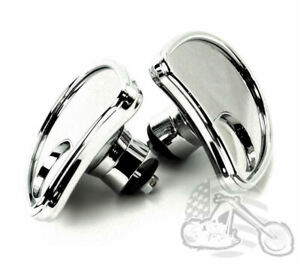 Chrome Fairing Mounted Mirror w// Blind Spot Mirrors Harley Batwing Touring 99-13