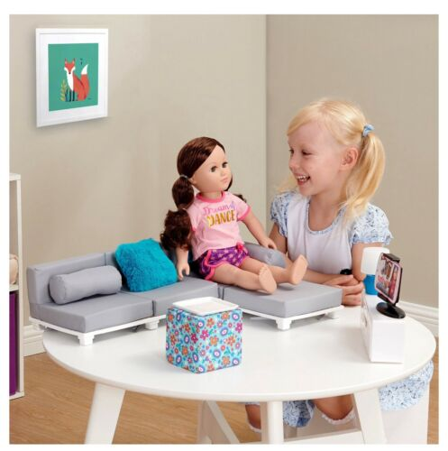 """My Life As Living Room Play Set for 18/"""" Baby Dolls Furniture NEW DAMAGED BOX"""