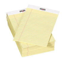 School Smart Junior Legal Pads 5 X 8 Inches 50 Sheets Each Canary Pack Of 12