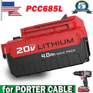 4.0AH PCC685L Battery For Porter Cable 20VMAX Li-Ion Replace PCC682L PCC680L
