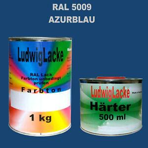 Ral-5009-Bleu-Ciel-1-5-kg-Peinture-Acrylique-Brillant-avec-Durcisseur