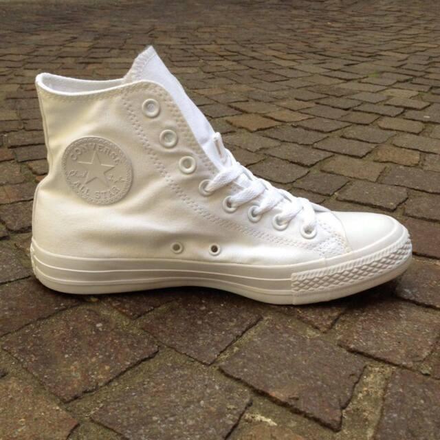 Converse Chuck Taylor All Star Hi - White Mono triple white tutta bianca