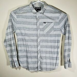 Zoo York Mens Xl Flannel Long Sleeve Button Down Gray