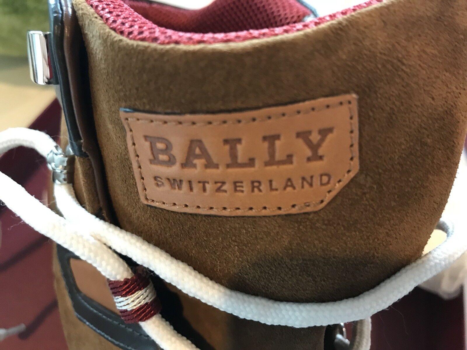 700  Bally Avyd Khaki Suede Ginnastica High Tops Scarpe da Ginnastica Suede size US 10.5 Made in Italy 0fe068