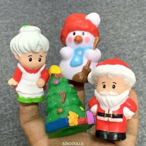 4-Fisher-Price-Little-People-SANTA-CLAUS-Christmas-North-Pole-SNOWMAN-TREE-toy