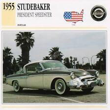 1955 STUDEBAKER PRESIDENT SPEEDSTER Classic Car Photograph/Information Maxi Card