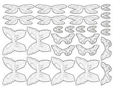 Creepy Crawlers sheet of clear wings for a Mattel Thingmaker