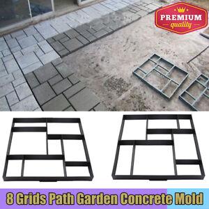 Manually Paving Cement Brick Molds DIY Plastic Path Maker Mold Garden Stone EH