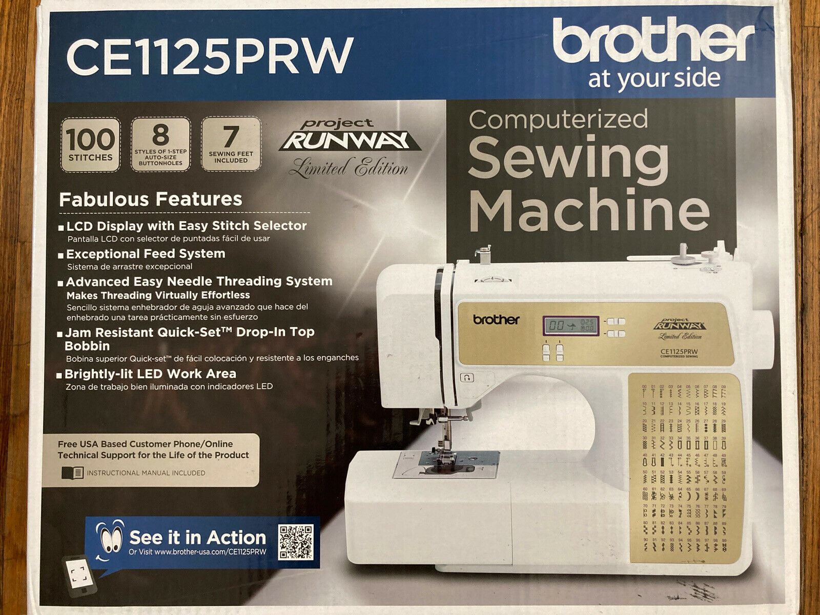 s l1600 - NEW Brother CE1125PRW Computerized 100-Stitch Project Runway Sewing Machine