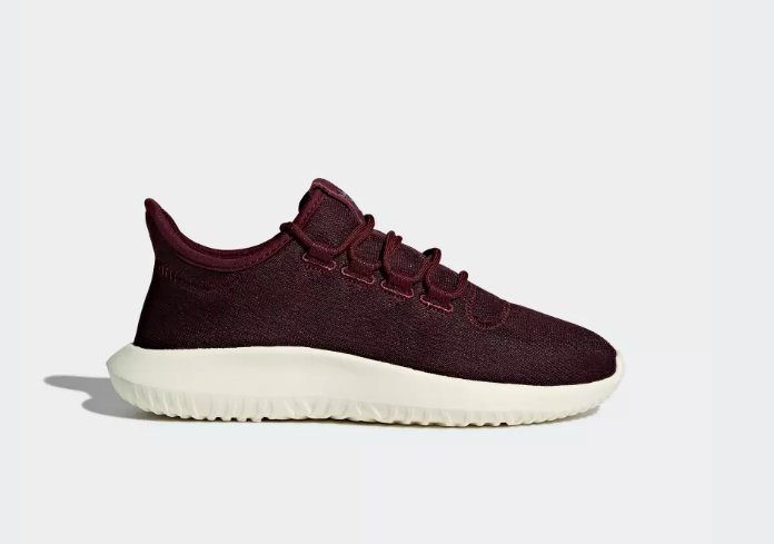 New Adidas Womens Tubular Shadow Maroon Red Athletic Shoes Größe Links 6,5 Rechts 7