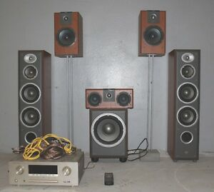 Jbl Home Speakers >> Details About Jbl Home Theatre System 5 Speakers Active Sub Marantz Surround Receiver