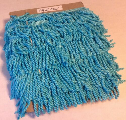 "2.5/"" Bullion Fringe Ocean Blue Turquoise Curtain Upholstery Trim Per Yard #CR06"