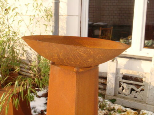 Rost Feuerschale Rost Pflanzschale Edelrost 60cm 1mm Gartendeko Metall  Eisen