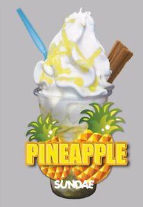 Ice Cream Van Autocollant Ananas Kbg Flake-afficher Le Titre D'origine Hupdawcx-08000107-398038052