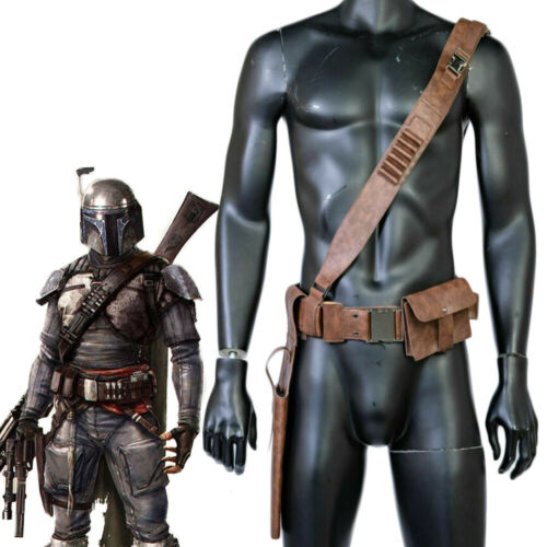 Xcoser The Mandalorian Belt Star Wars Cosplay Strap Costume Prop Leather Holster