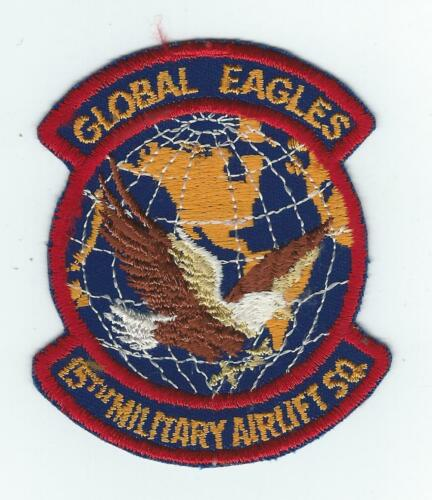 "1970's80's 15th MILITARY AIRLIFT SQUADRON ""GLOBAL EAGLES patch"