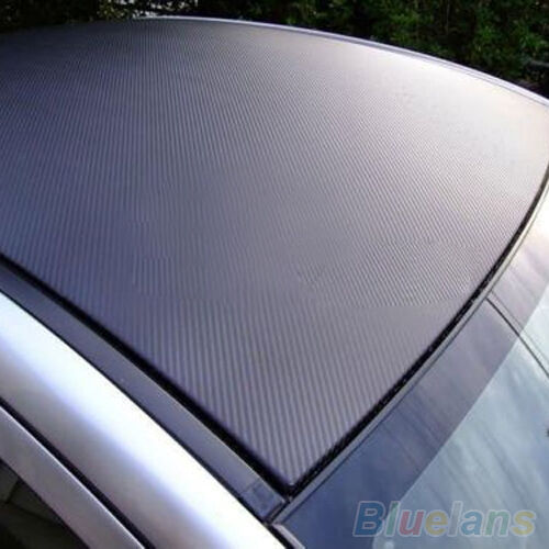 3D Novelty Carbon Fiber Black Vinyl Film Auto Car Sheet Wrap Roll Sticker Decor