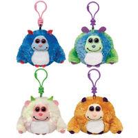 Ty Monstaz - Set Of 4 (benny, Jerry, Lola, Rufus)(plastic Key Clips - 3 Inch)