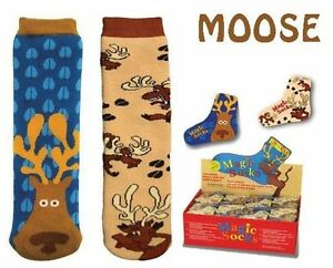 Shrink-Wrapped-Moose-Pattern-Magic-Socks-Expand-in-Water-One-Size-Fits-All