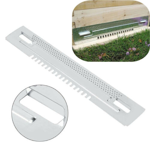Zinc Plated Bee Hive Sliding Mouse Guards Travel Gates Beekeeping Equipment