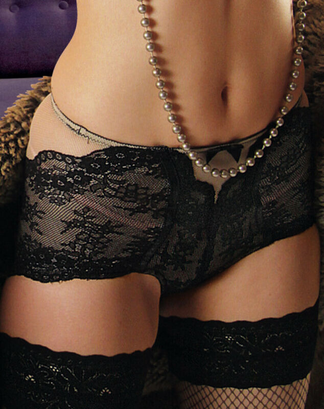 Designer Knickers Pants Black And Cream Lace Fire Sale Eleganter Auftritt