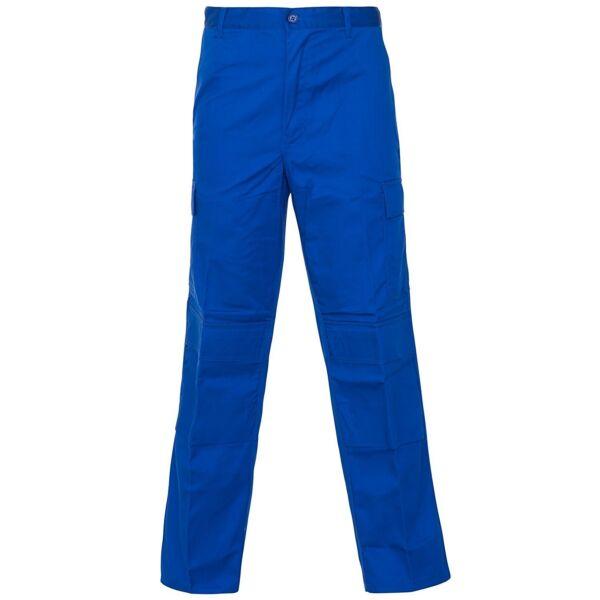 18jb6 Supertouch Royal Blu 38in Combat Pantaloni Reg Workwear Eccellente (In) Qualità