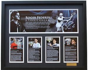 New Roger Federer Signed Limited Edition Memorabilia