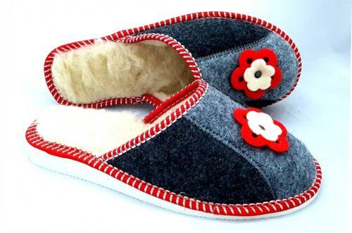 Sheep Wool /& Felt Women Ladies Indoor Home Shoes Slippers Warm Mule 4 5 6 6.5