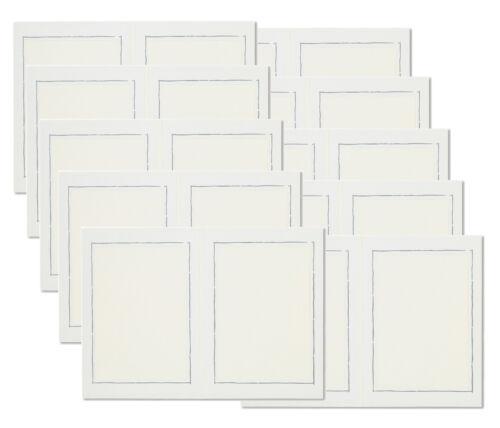 ♛ 10 Stck  2-seitige Leporellos, für 2 Fotos 13 x 18 cm, Silberrand, Fotoalbum ♛