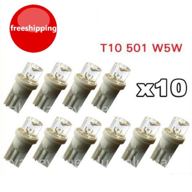 10PCS T10 Car White Bright LED 194  SMD 0.2W  Wedge Side light Bulb lamp 12V