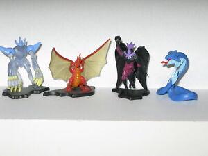 """4 Bakugan 2"""" Collector Figures Dragonoid Monster Reaper Fear Ripper Rare Difficile à Trouver-afficher Le Titre D'origine"""