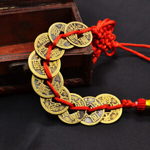 Chinese-Feng-Shui-Lucky-Coins-Wealth-9-Emperors-Coins-Home-Car-Hanging-String