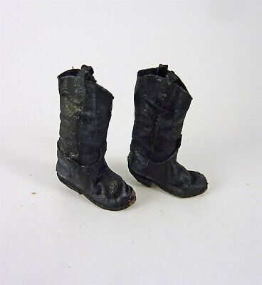 Dollhouse Miniature Artisan Aged Brown Leather Cowboy Boots