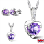Swarovski-purple-crystal-jewellery-sterling-silver-set-UK-SELLER thumbnail 5