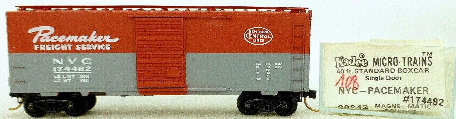 Micro Trains Line 20242 Nyc Pacemaker 174482 40' Pc. Boxcar 1 160 Ovp  H108 Å