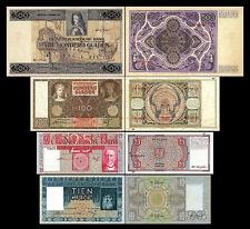 2x 10,25,100,500 niederländische Gulden - Ausgabe 1930 - 1944 - 8 Banknoten - 10