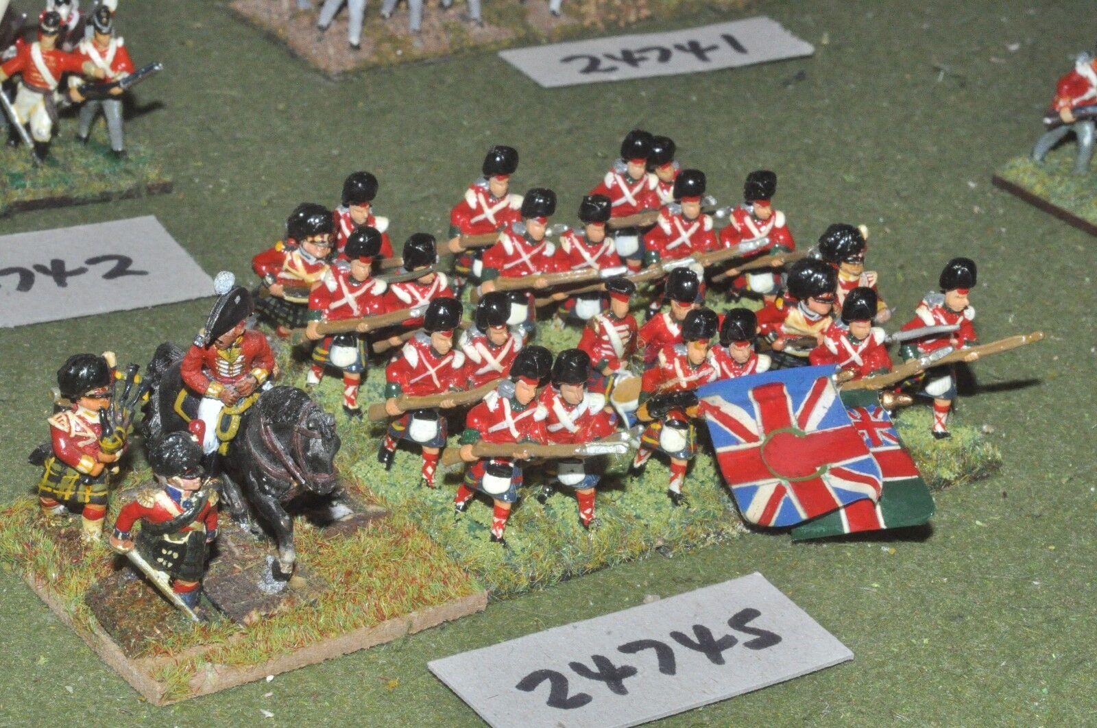 25mm napoleónicas británico Highlanders 26 figuras-INF (24745)