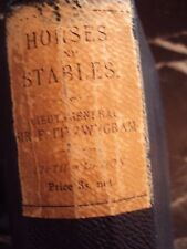 RARE Horse and Stables by Lieut General Sir F. Fitzwygram, Bart 1901 hardcover