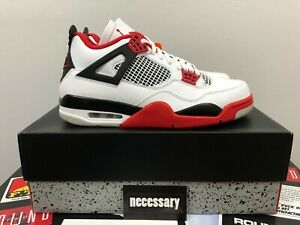 Nike-Air-Jordan-4-Retro-Fire-Red-2020-Mens-Size-10-5-BRAND-NEW-IN-BOX-DEADSTOCK