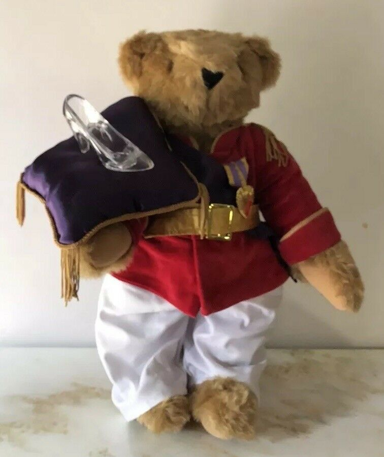 Vermont 17  Light Light Light Marroneeeeeee Teddy Bear Dressed as Prince Charming with Glass Slipper b7d824