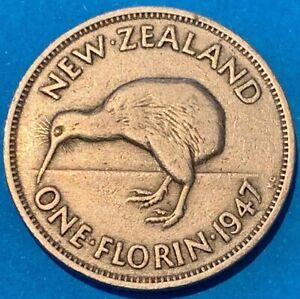 1947-New-Zealand-NZ-One-Florin-Kiwi-Bird-Coin