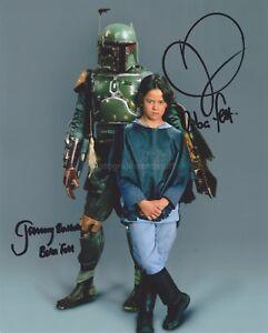 Boba fett helmet in case hand signed by Jeremy Bulloch Star Wars silver sig