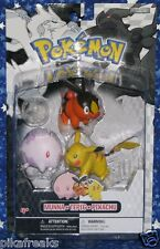 New Pokemon Black and White 3 Pack Action Figures with Tepig Jakks Pacific USA
