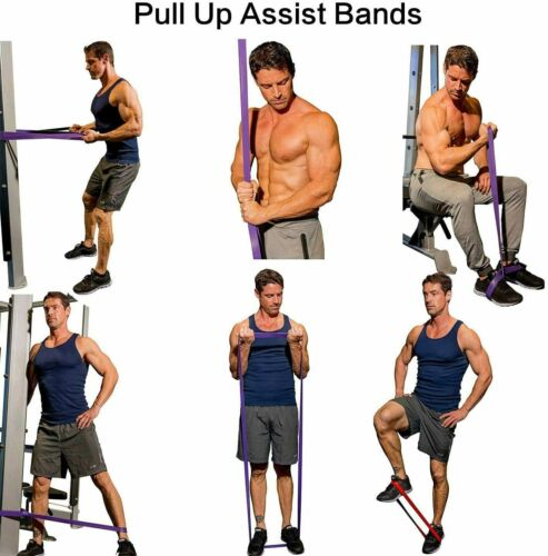 Resistance Bands Loop Heavy Duty Exercise Sport Fitness Gym Yoga Latex UK Stock
