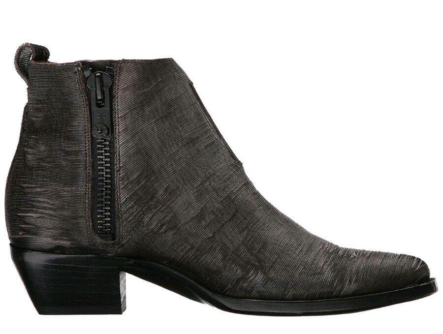 Nya kvinnor 6.5 FRYE Sacha Moto Shooslips Charkole Vintage läder Ankle Boot  348