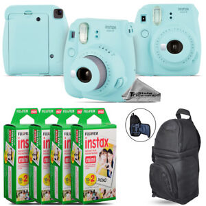 Fujifilm-instax-mini-9-Film-Camera-Ice-Blue-BackPack-80-Films-Kit